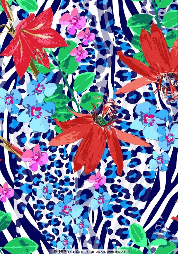 植物花朵花卉动物纹路矢量图下载