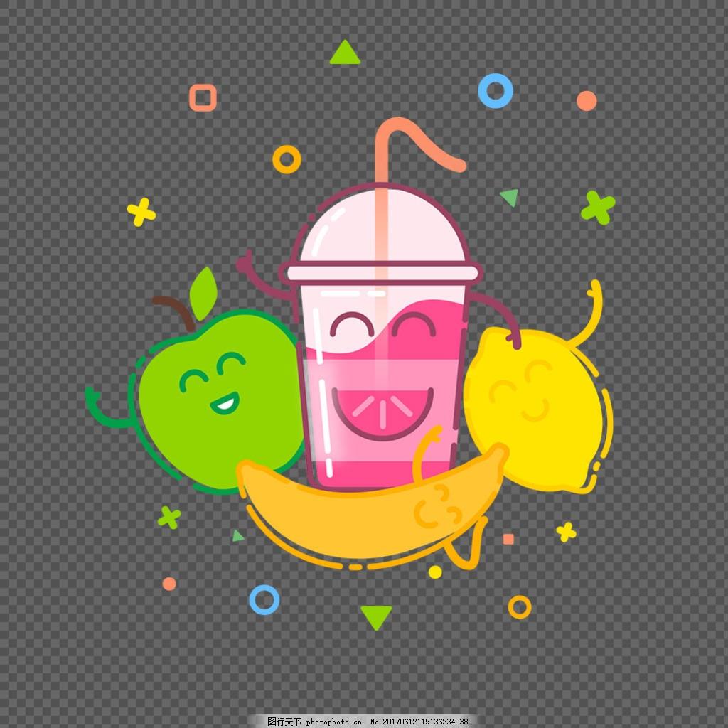 各种可爱水果表情图标免抠png透明素材