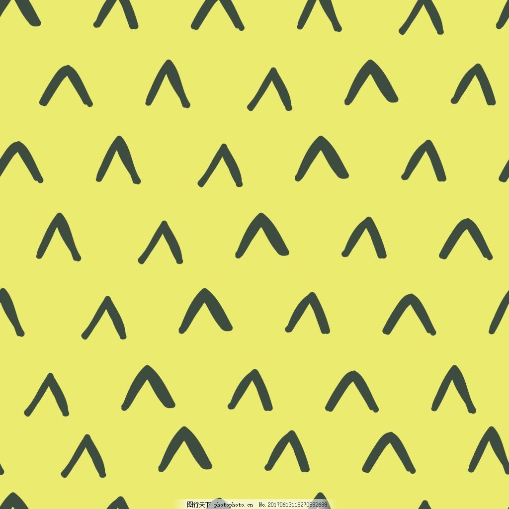 黄色三角卡通矢量小清新背景纹理 箭头 卡通 手绘 线条 划痕 纹理 小