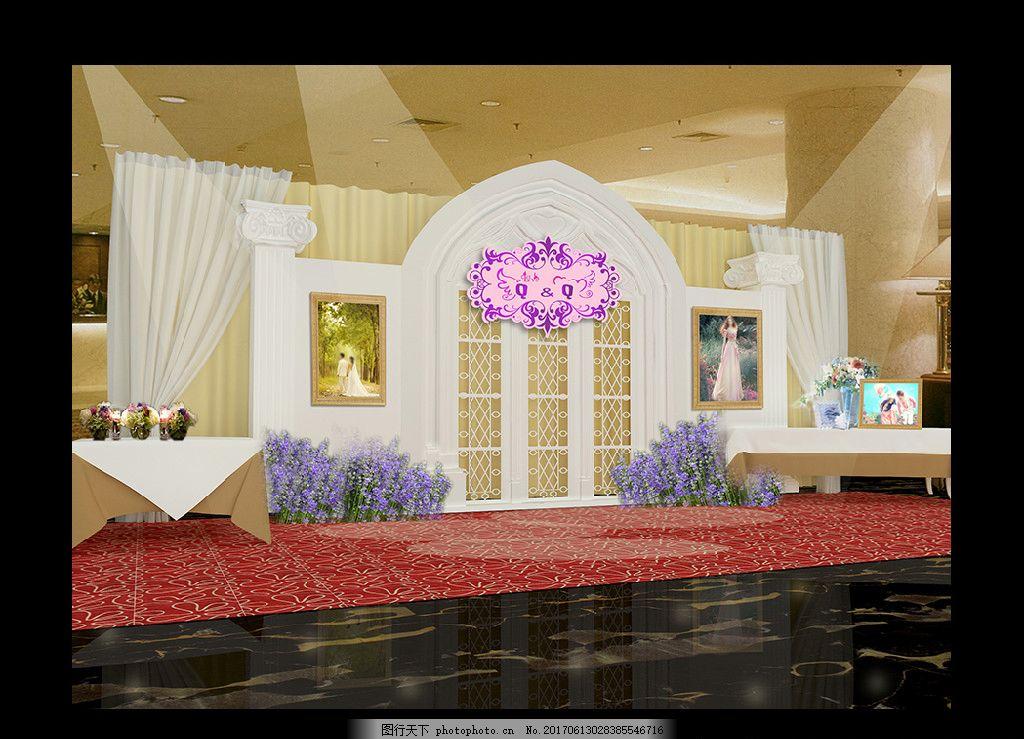 粉色公主婚礼 香奈儿婚礼 欧式主题婚礼 浅粉色婚礼 教堂屏风 教堂