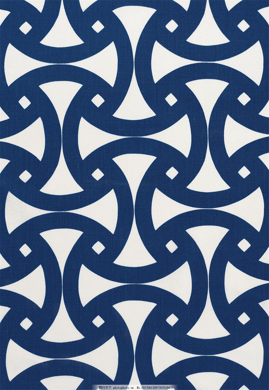 深蓝色边框布艺壁纸 欧式花纹背景图 壁纸图片下载 装饰设计 装饰素材