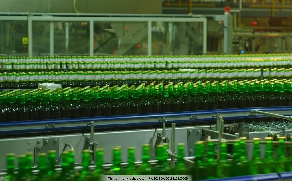 啤酒生产线 啤酒厂 工业车间 青岛啤酒 多媒体