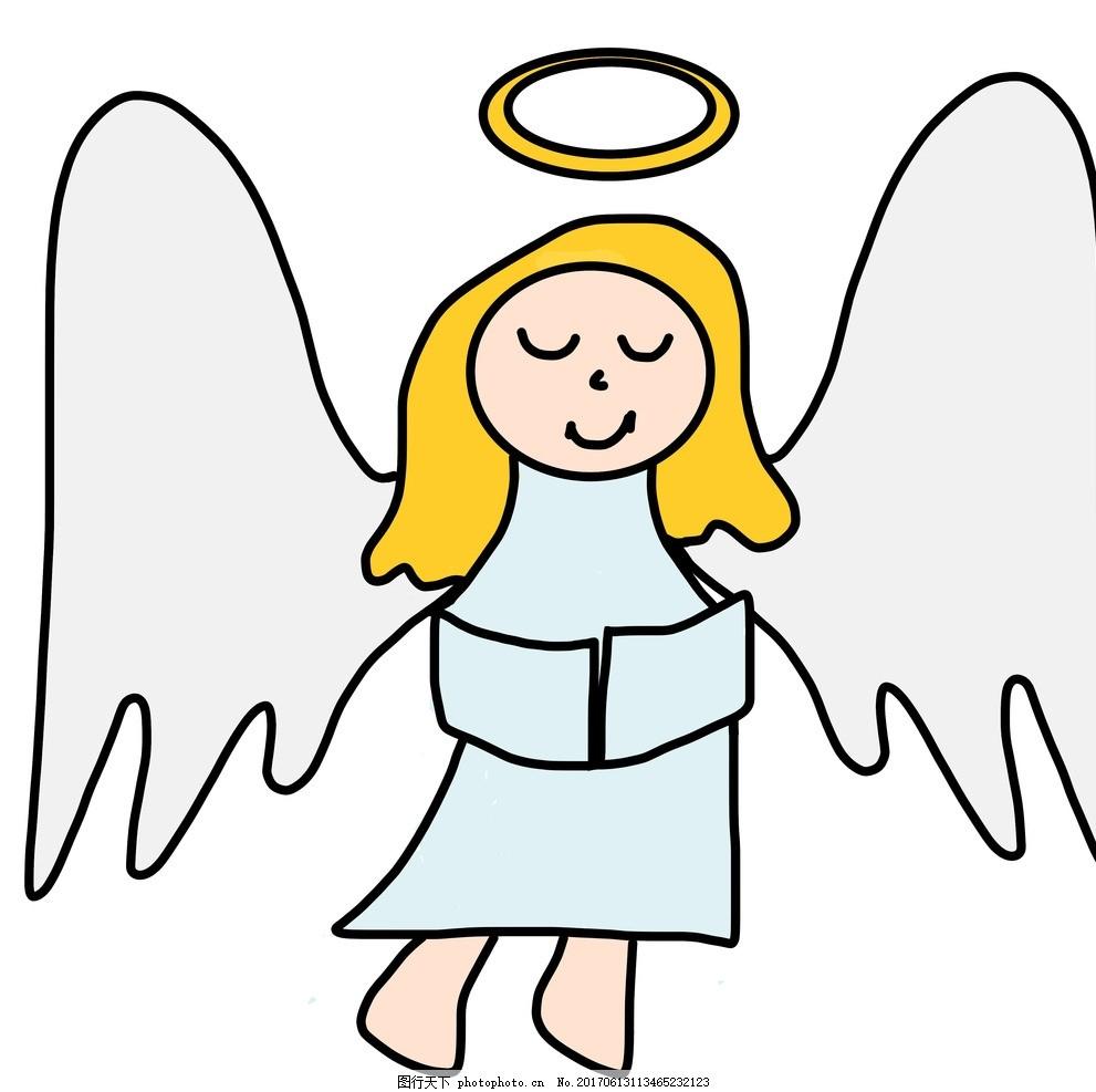 幼儿园六一儿童节简笔画 儿童节快乐 六一节 绘画 画画 天使 图画