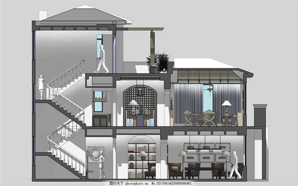 室内装修 地中海风格 家装设计图片下载 jpg 现代装修 别墅 立体 3d