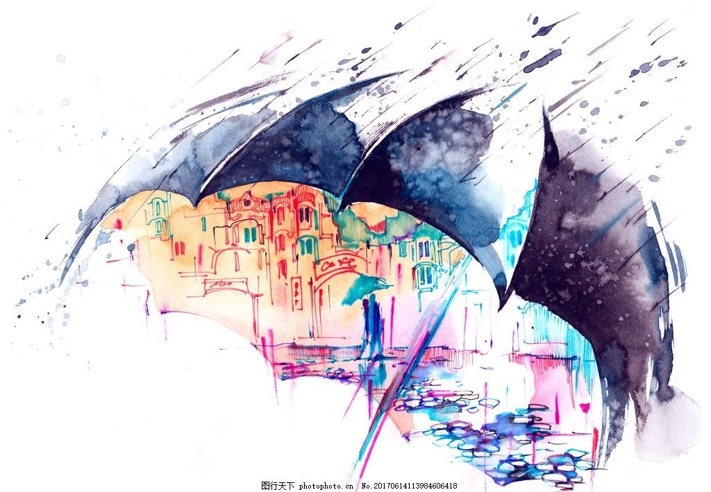 彩绘背景 唯美 炫酷 彩绘 背景 浪漫 梦幻 水彩 水彩画 设计 底纹边框