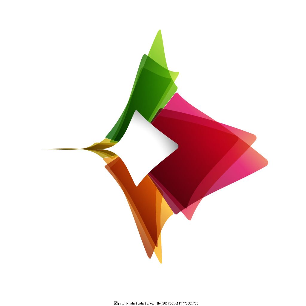 手绘彩色渐变元素