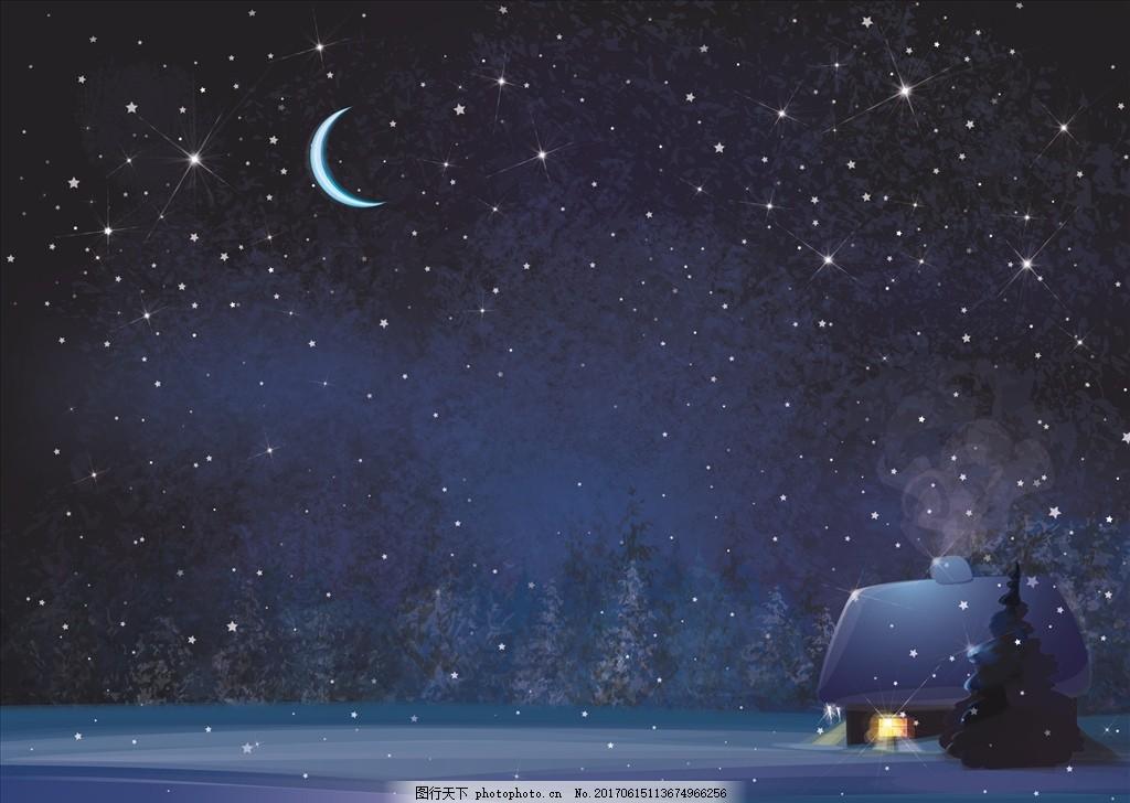 大月亮浪漫风景图片