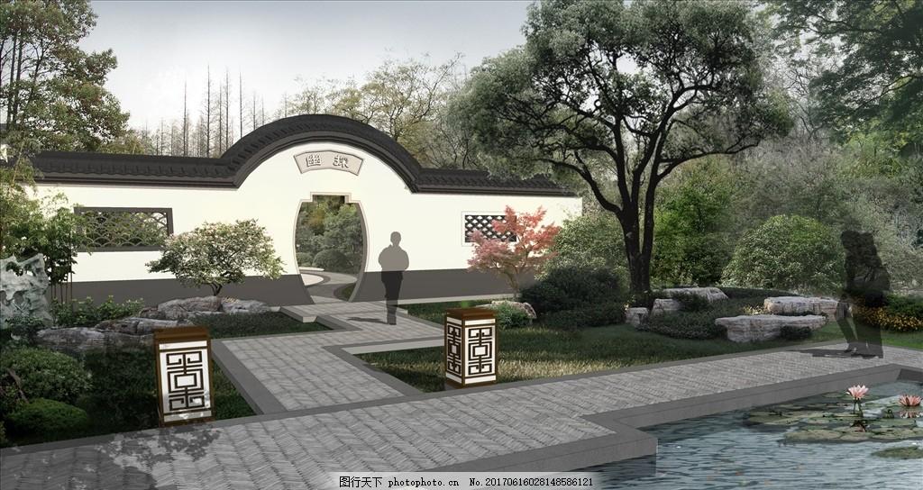 中式庭院 景观 园林 示范区图片