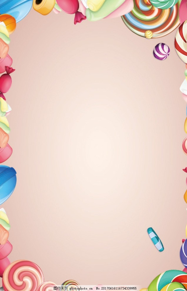 糖果手机手绘海报