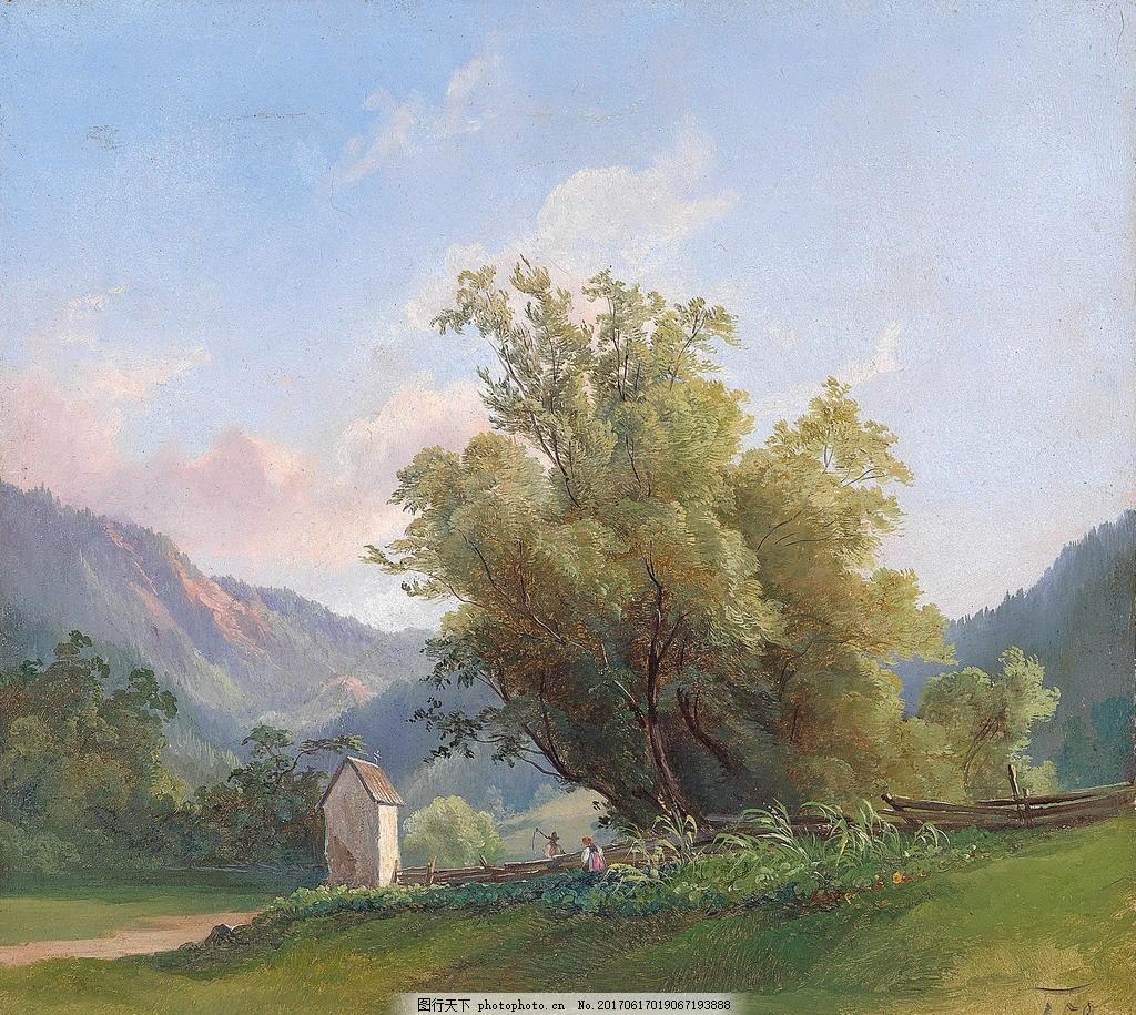 油画 油画风景 油画山水 风景油画 山水风景油画 欧式风景油画