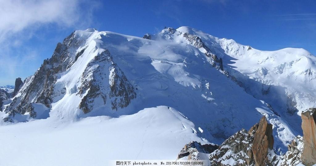 雪山图 蓝天 白云 雪花 冬季 风景 摄影 国内旅游