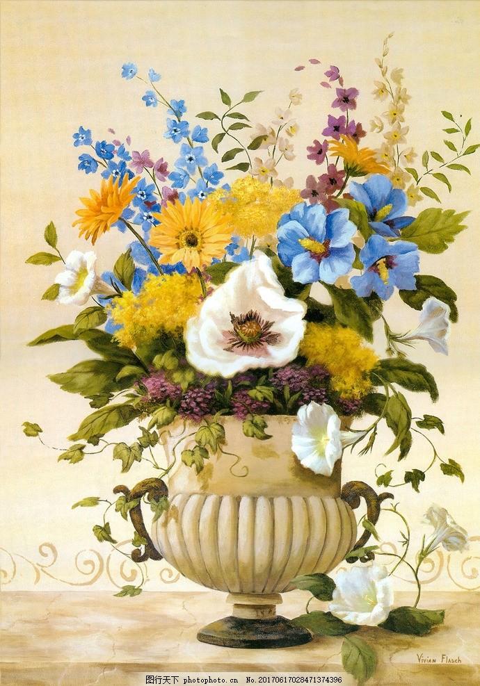 静物花卉 装饰画 油画 欧美 装修风格 软装 家装 居家 挂画