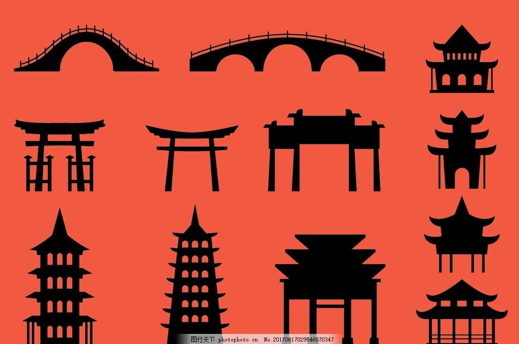中国元素 中国建筑 建筑 古代房子 房子 古建筑 古建筑元素 中国风