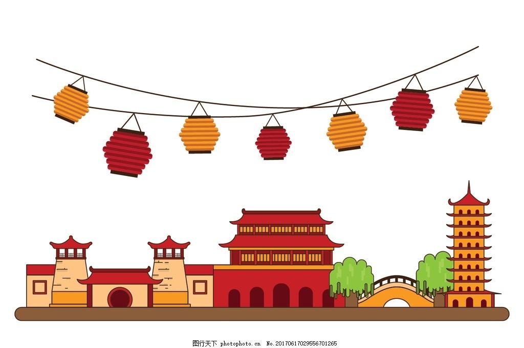 唐人街 中国元素 中国建筑 古代房子 古建筑 古建筑元素 中国风