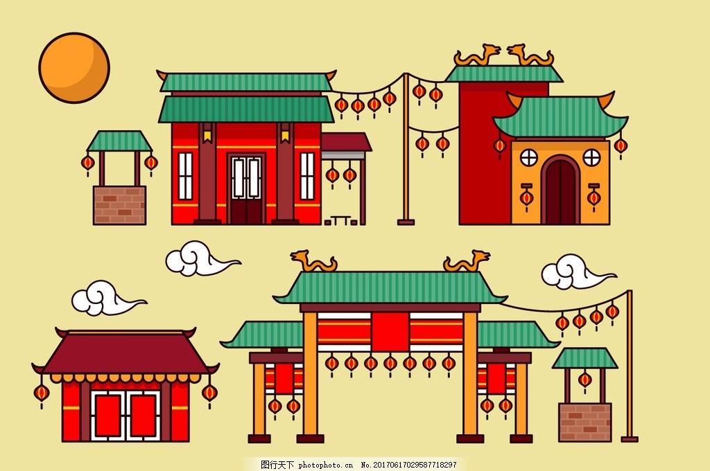 唐人街 中国元素 中国建筑 建筑 古代房子 房子 古建筑 古建筑元素 中
