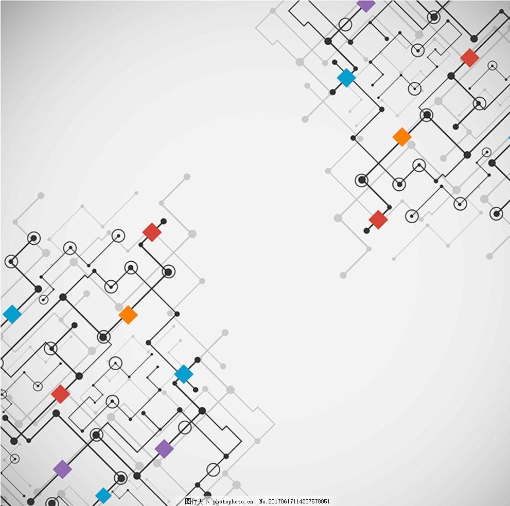 矢量设计感线条设计 矢量 设计感 线条设计 电路 科技感 花纹 设计