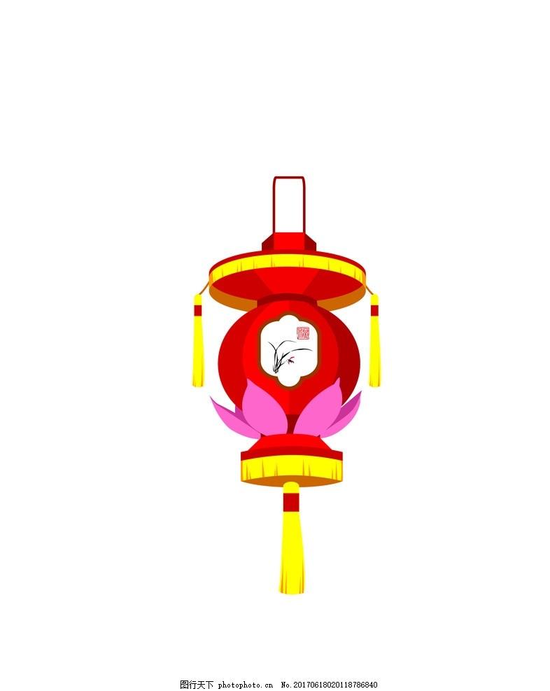 传统花灯eps矢量素材 灯笼 其他图标