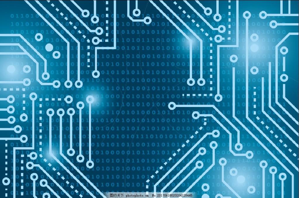 电子电路背景 线路 电子 芯片 数据 电子商务科技办公 设计 底纹边框