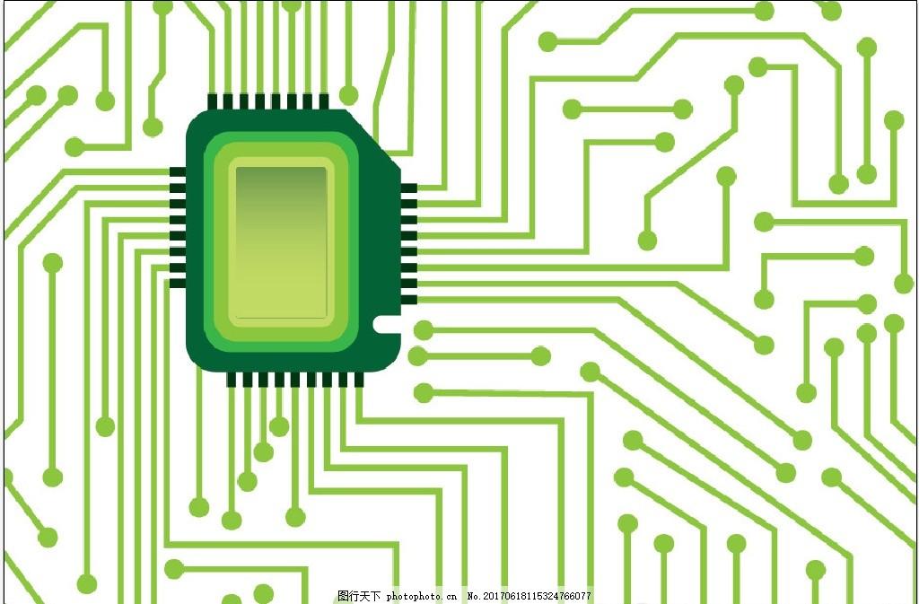 电子电路背景 线路 芯片 数据 电子商务科技办公 底纹边框 背景底纹