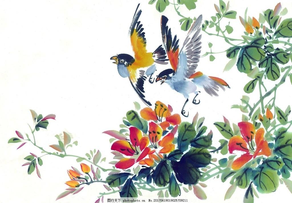 现代画家王蒙_鸟语花香图片_绘画书法_文化艺术_图行天下图库