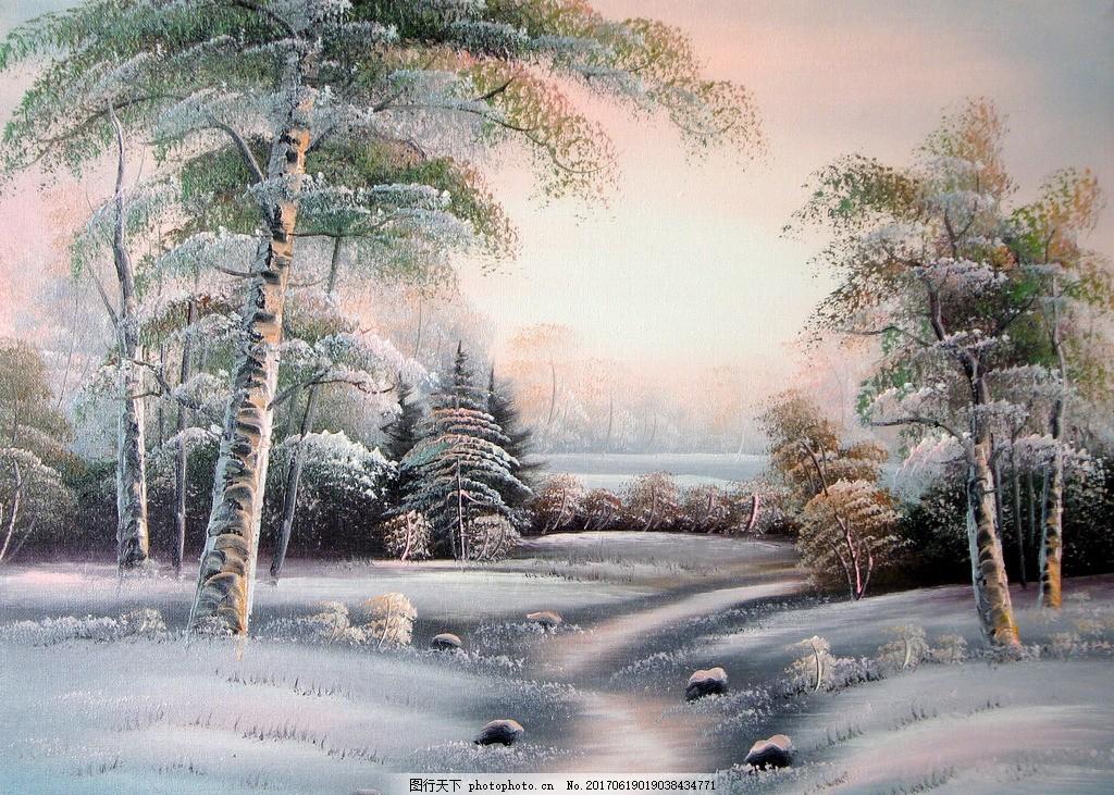 装饰画 油画 画 欧美 欧式 现代 家装 家庭 田园风 风景山水 古典