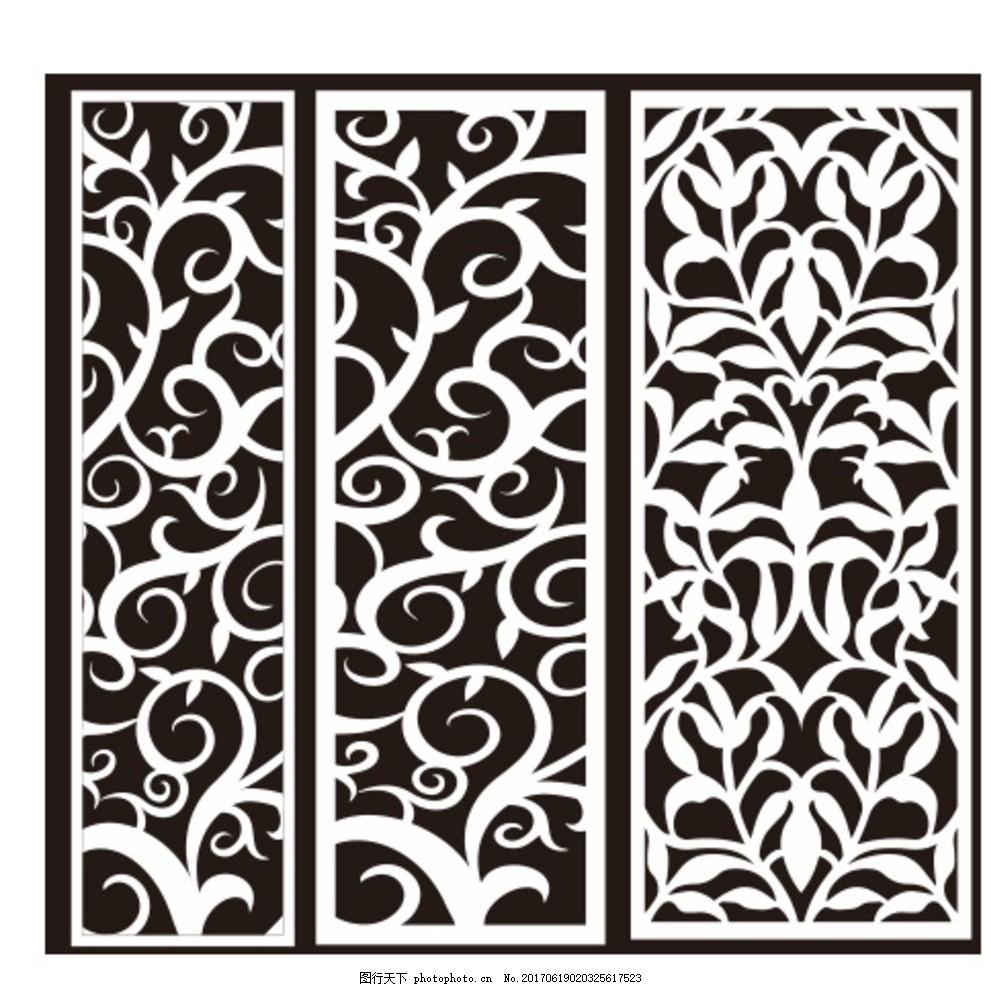 欧式雕花 木雕画 雕刻 花朵 玄关 设计 底纹边框 花边花纹 cdr
