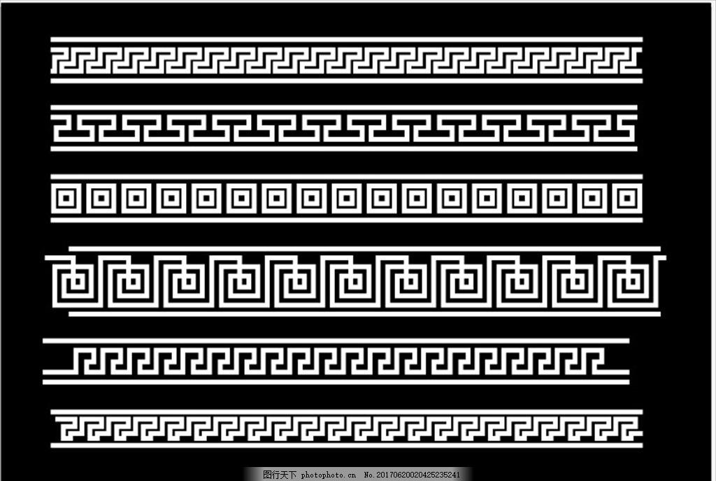 中式边框线条 圆形边框 回纹 传统边框 中式古典 中国风边框 小边框
