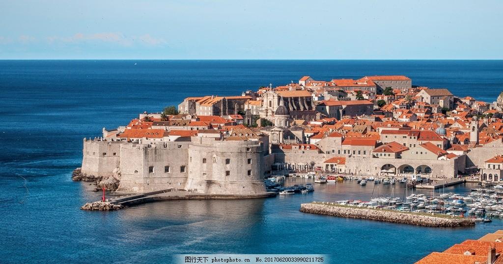 地中海 海边城市 欧式风格 国外建筑 自然风景 摄影 国外旅游