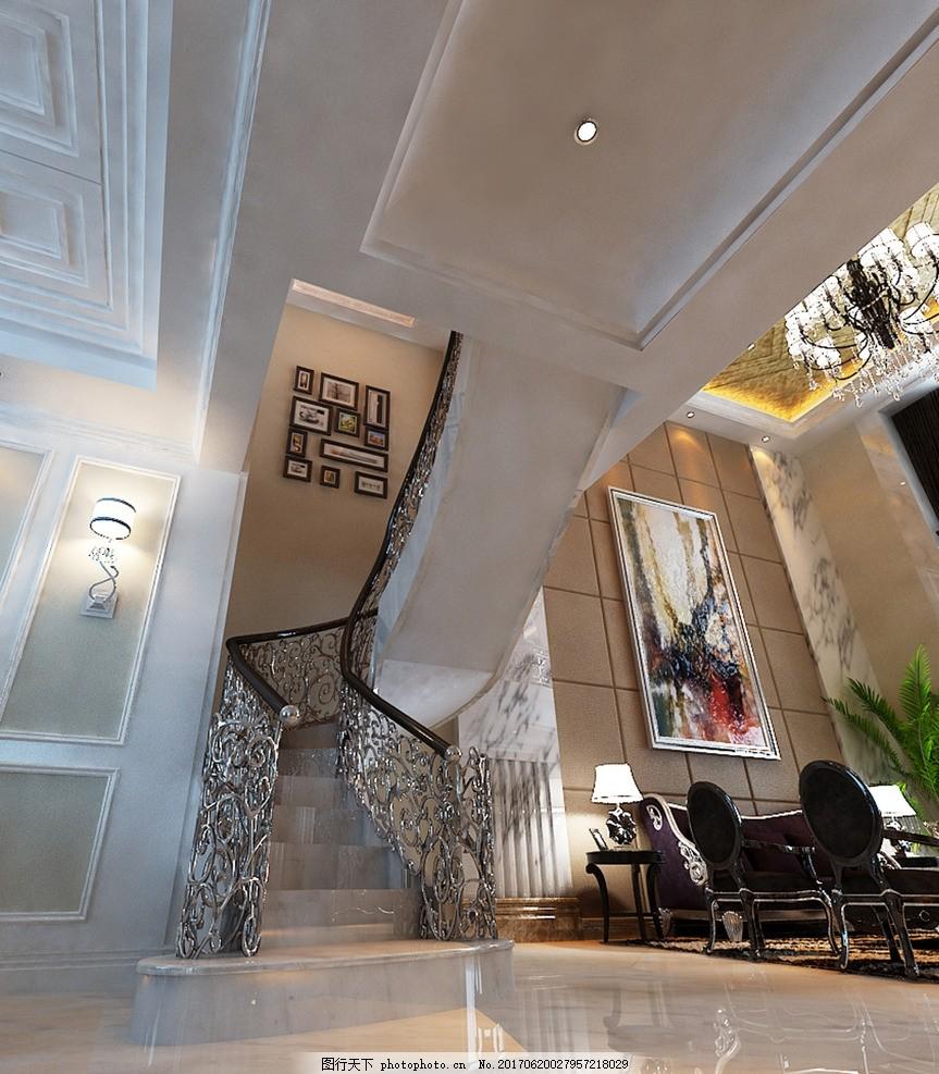 客厅效果图 装饰 装修 家装 欧式风格 奢华 别墅豪宅 室内设计效果图
