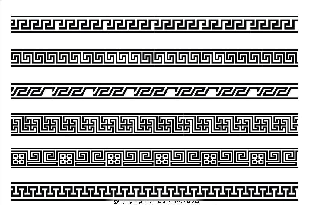 中式边框线条