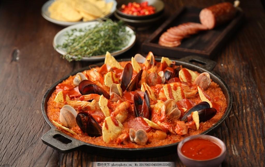 海鲜饭 龙虾饭 龙虾 饭 海鲜 小龙虾 美食 餐饮 贝壳 扇贝 美食图库