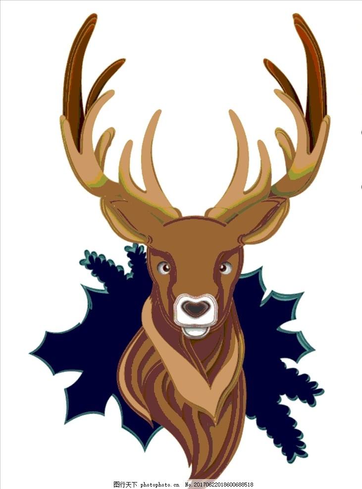 圣诞麋鹿 圣诞节 手绘 动漫动画