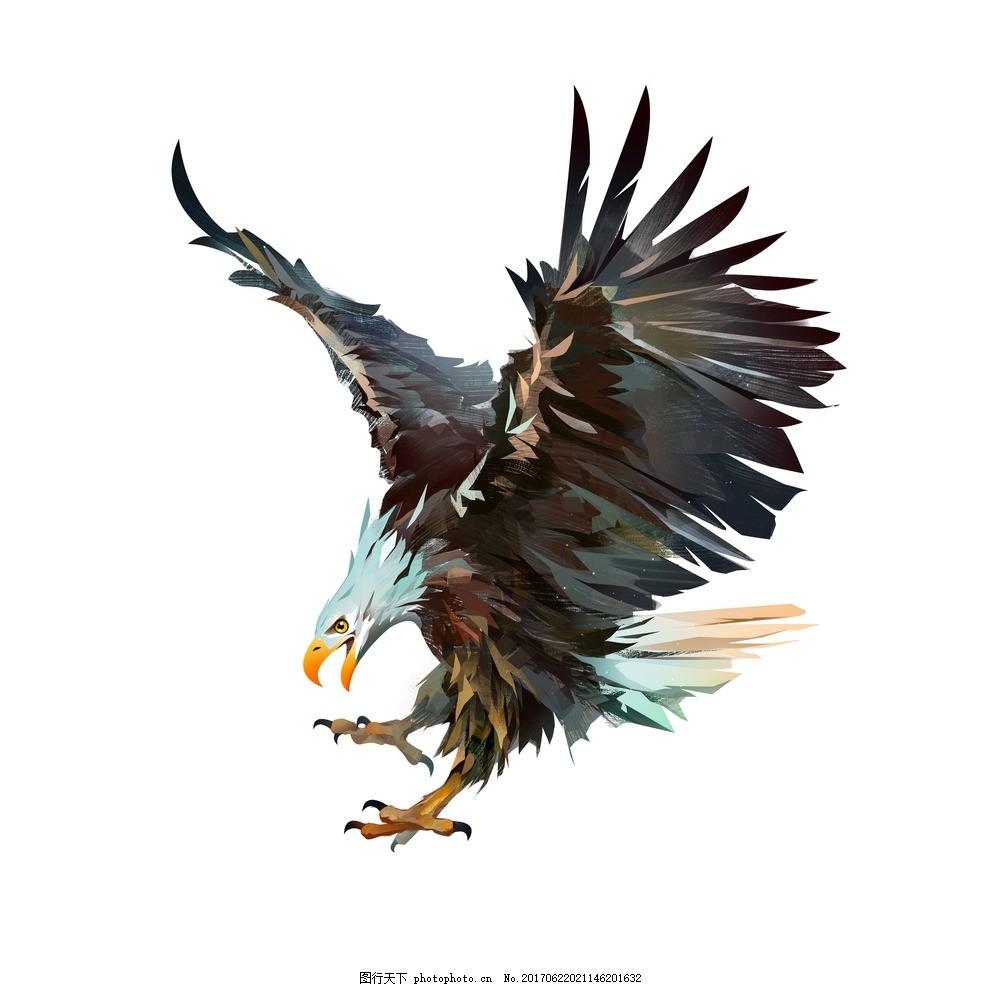 乌鸦 唯美 动物 可爱 立体 鸟