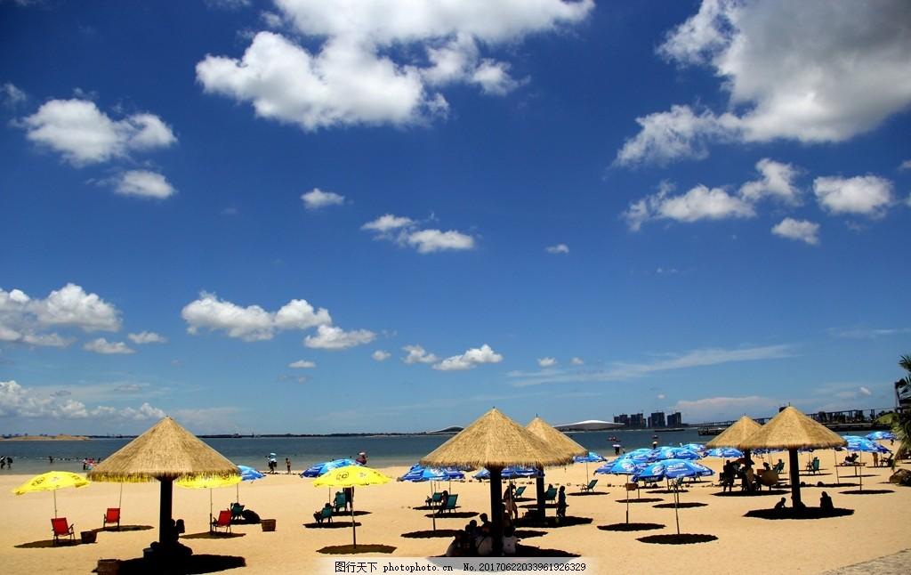 湛江金沙湾海边风光 海滨 公园 摄影 春色 美景 蓝天 白云 国内旅游图片