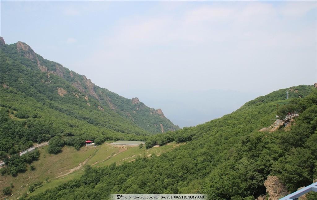 瑞云谷风光 蓝天 白云 山峰 山脉 植物 植被 树木 草甸 自然景观