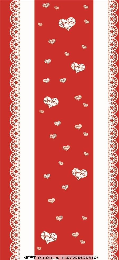 婚礼t台地毯 红色 白色 爱心 婚庆 蕾丝 花边 婚礼素材