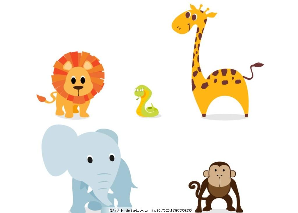 卡通动物 图案