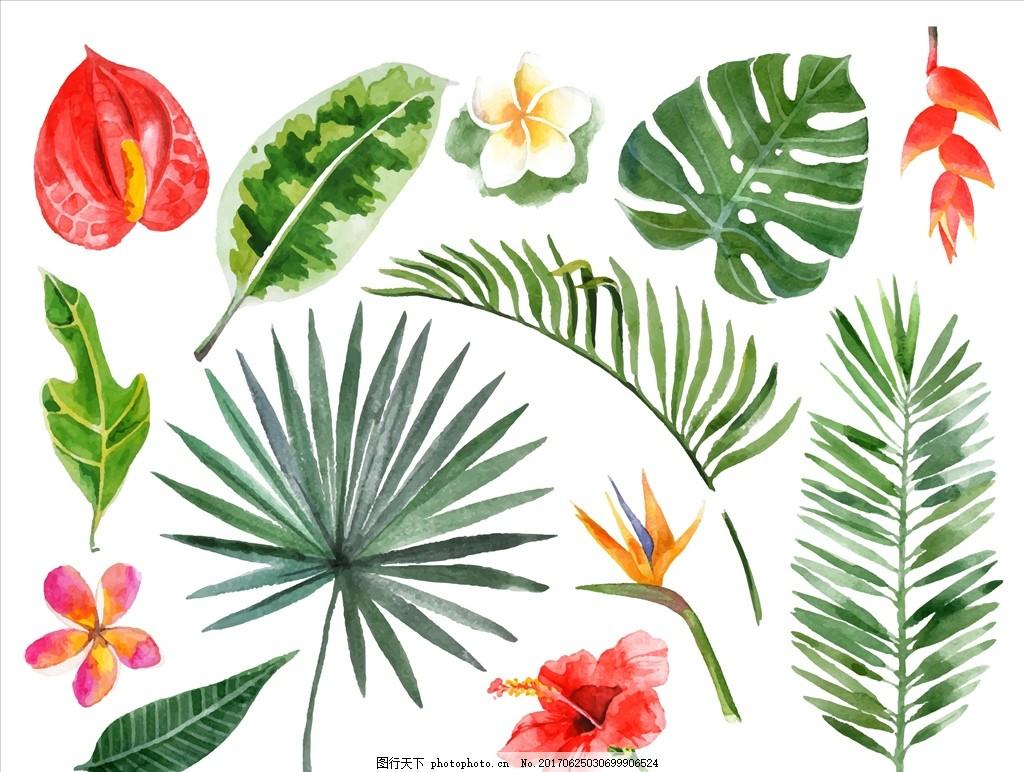 植物树叶矢量图下载 花 小花 手绘花朵 植物 花朵花卉 植物花朵 绿叶