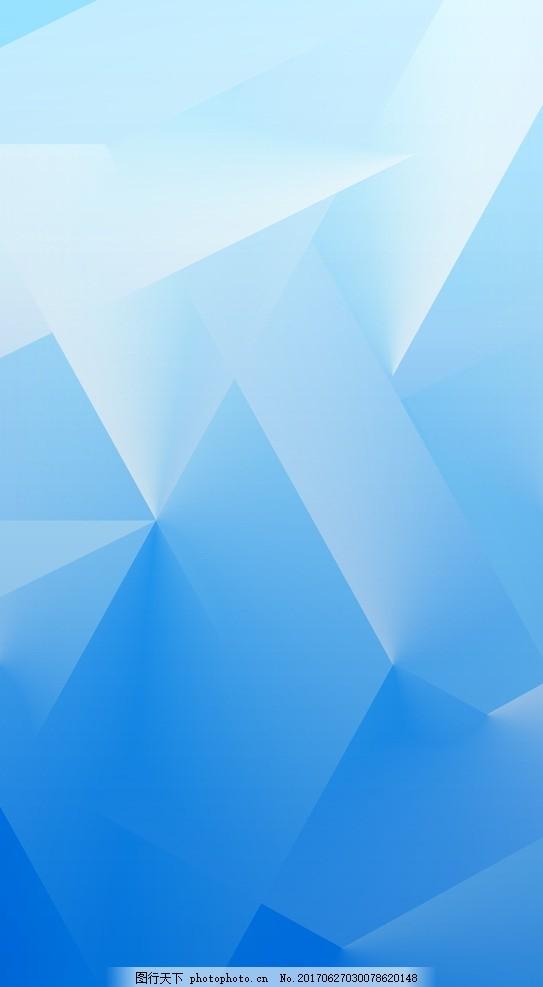 蓝色多边形背景 多边形 三角形 几何图形 蓝色 渐变 深蓝色 科技 蓝色