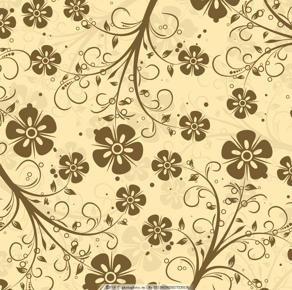 手绘黑白花艺边框