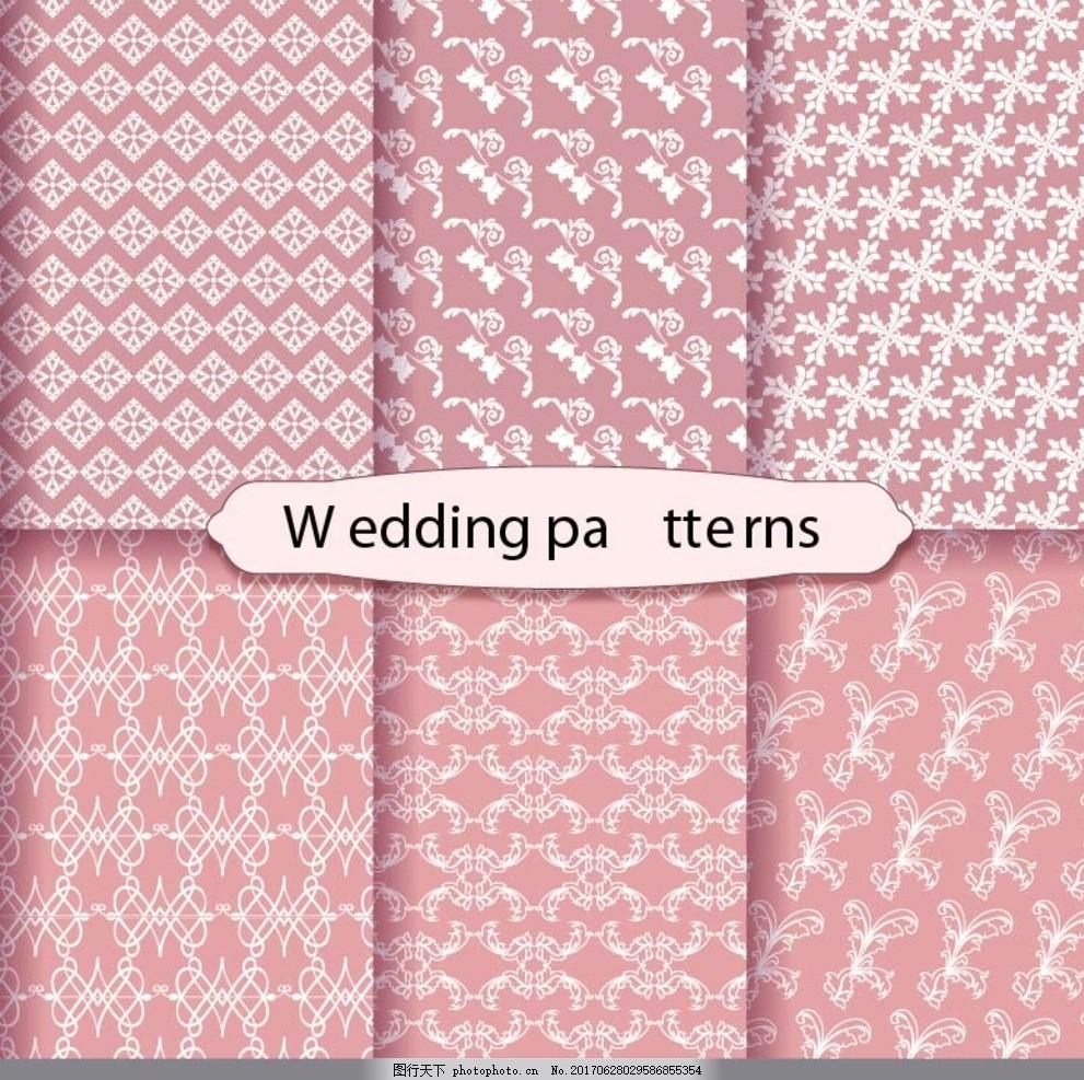 布纹纹理 布纹背景 粉红色背景 粗布 花纹 经典花纹 壁纸 背景墙