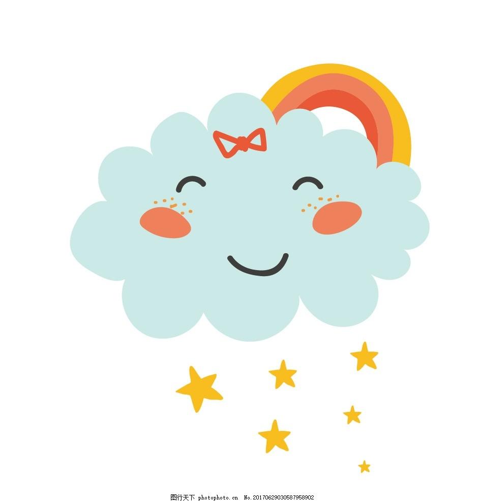 小清新手绘云朵