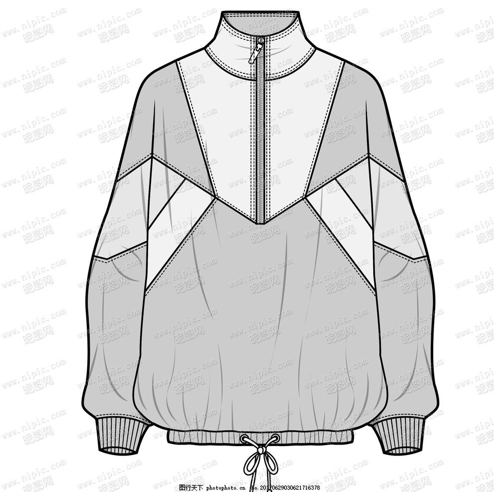 童装 服装 服装设计 模特 针织 梭织 外套 上衣 运动 色块 拼接 拉链