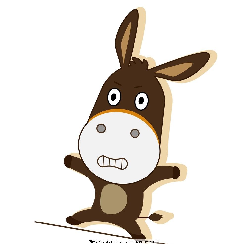 卡通毛驴 卡通动物 卡通 动漫 创意图案 卡通背景 抽象动物 赶集网