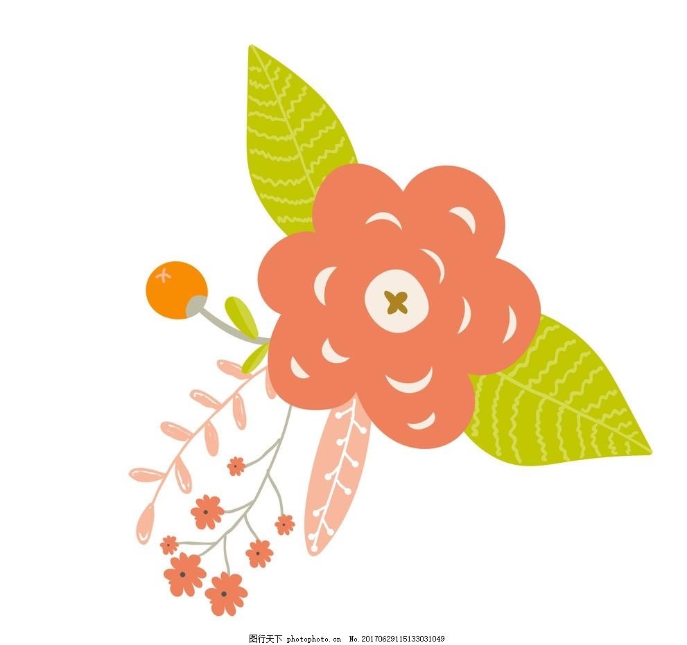 矢量花朵素材 动物插画 儿童绘本 儿童画画 卡通动物漫画 儿童插画