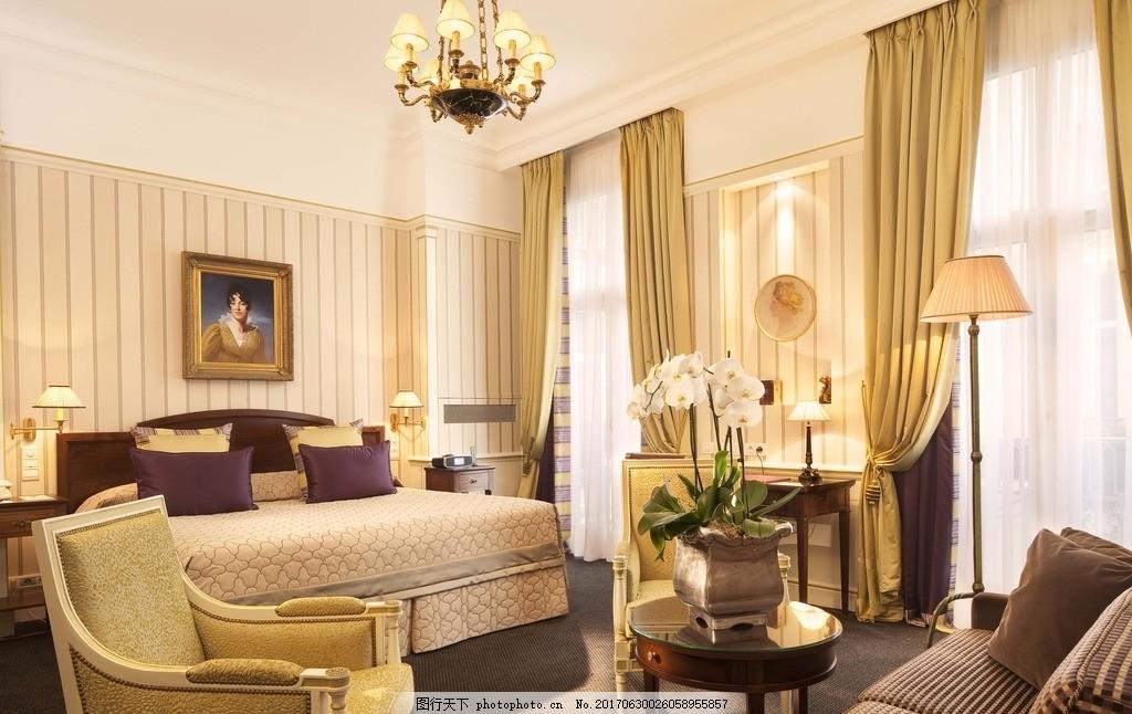 歐式高級酒店房間效果圖,高清 客房 實拍 床頭 現代