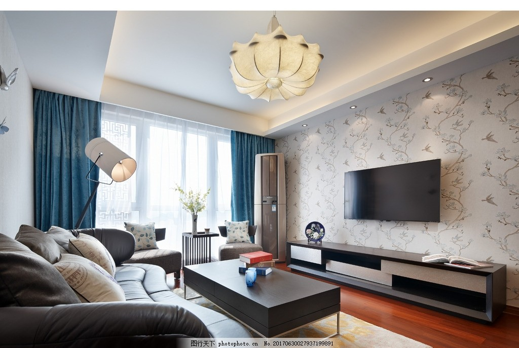 家装客厅效果 装饰 装修 混搭风格 实景图 效果图 摄影 室内摄影