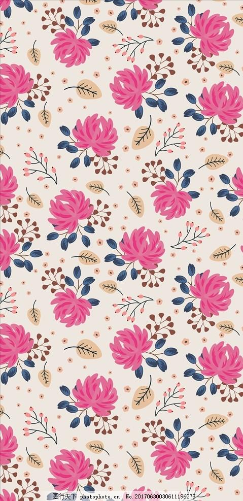 手绘花朵花卉四方连续底纹 花 小花 手绘花朵 植物 花朵花卉 植物花朵