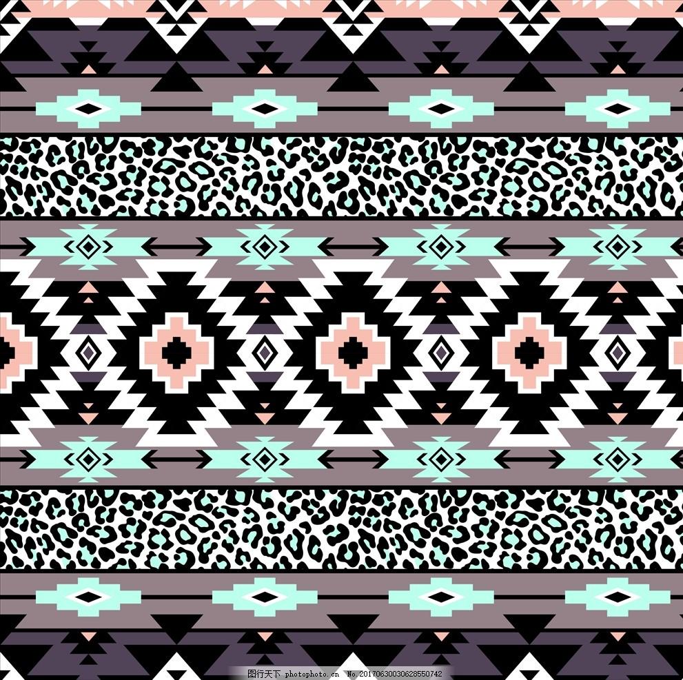 面料印花 布料印花 贴纸图案 几何图形 动物花纹 豹纹 民族风花纹