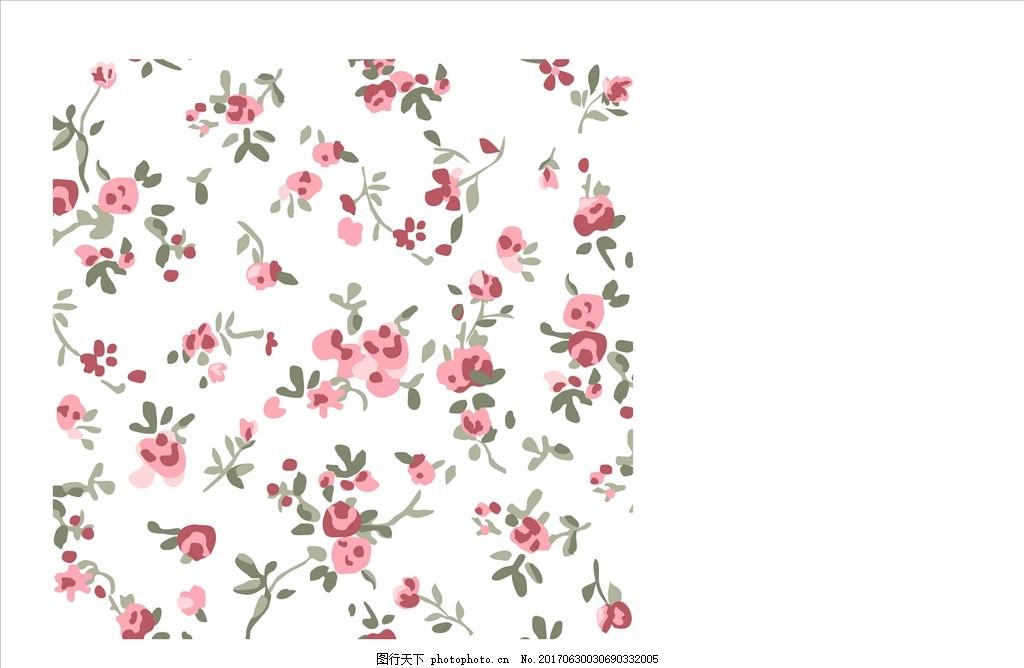 手绘花卉碎花四方连续底纹 花 小花 手绘花朵 植物 花朵花卉 植物花朵